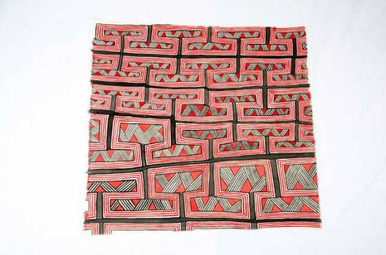 Asurini Textile - These hand painted geometric designs comprise a system of graphic art where the contents are related to different systems of meaning.