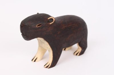 Guarani Capybara, Tribal Art Brazil