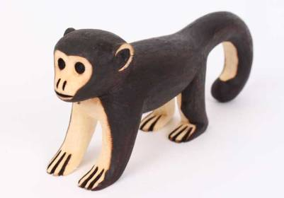 Guarani Brazilian Indigenous Tribe Carved Monkey