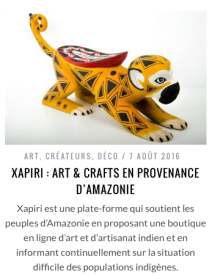 Support in the French Plumetis magazine