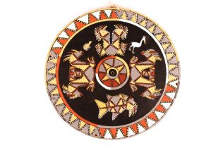 Wayana Roof Circle, Tribal Art, Brazil